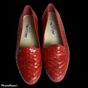 Trotters woven leather flats 6.5